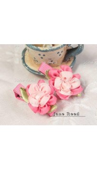 Clippies - Double Toned Flower Clip - Janice (1 pair)