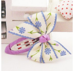 Clippies - Double Ribbon Snap Clips - Adriana (1 pair)