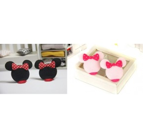 Clippies - Cute Characters Snap Clips - Mickey (1 pair)