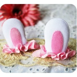 Clippies - Cute Characters Snap Clips - Bunny (1 pair)