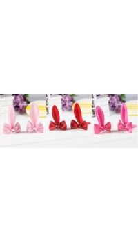 Clippies - Cute Characters Snap Clips - Rabbit (1 pair)