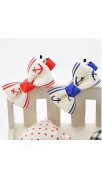 Clippies - Printed Colorful Ribbon Bow Clippies - Belle (1 pair)