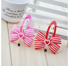 Clippies - Double Ribbon Snap Clips - Sarah (1 pair)