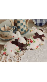 Clippies - Korean Handmade Cute Bunny Shape Clippies - WHITE (1 pc)