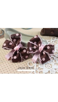 Clippies - Double Layered Ribbon Clips - Martha (1 pair)