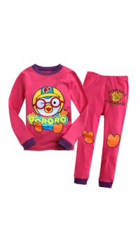 GAP Embroidery Sleepware 2pc set - Pororo (Dark Pink) (2Y, 4Y, 6Y, 7Y)