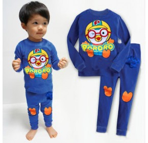 GAP Embroidery Sleepware 2pc set - Pororo (Blue) (5Y)