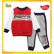 GAP Sleepware 2pc set - Pororo & Friends (Red & Grey) ( 4Y, 5Y, 6Y, 7Y)