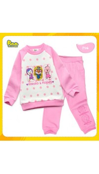 GAP Sleepware 2pc set - Pororo & Friends (Pink) (3Y, 4Y)