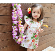 Korean Girl Floral One Piece Dress (4Y, 5Y, 6Y, 7Y)