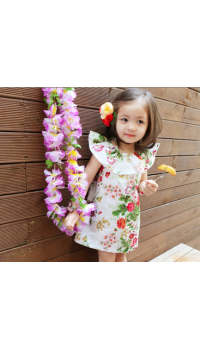Korean Girl Floral One Piece Dress (5Y, 7Y)