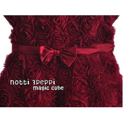 Magic Cube Notti Peppi - 3D Rosette Elegant Party Dress - DARK RED (3Y)