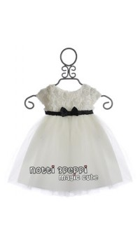Magic Cube Notti Peppi - 3D Rosette Mesh Dress - WHITE (2Y, 3Y, 5Y, 6Y)