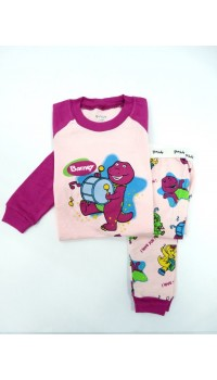 GAP Sleepware 2pc set - Barney (3Y, 4Y)