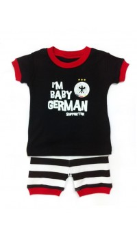 Baby GAP PJ 2pc Set - I'm Baby German Supporters (3M, 6M, 12M)