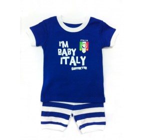 Baby GAP PJ 2pc Set - I'm Baby Italy Supporters (18M)