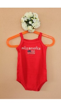 Koala Kids Ms. America Red Bodysuit (3M, 6M)