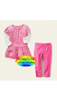 GAP Girls Pink 2pc Set (18M, 24M)