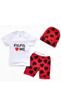 Baby GAP Romper 3pc Set - Papa Loves Me (12M)