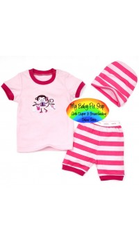 Baby GAP Romper 3pc Set - Monkey (Embroidery) (3M, 6M)