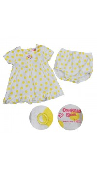 Osh Kosh Polka Dot Dress - Yellow (24M)