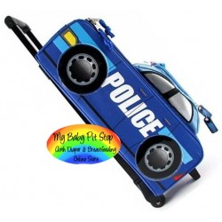Disney Cars Pixar Rolling Luggage - Patrol Car (100% authentic) FREE SHIPPING