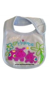 Carter's Water Proof Bib - Happy Hippos
