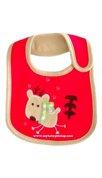 Carter's Water Proof Bib - Reindeer