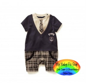 Belle Maison Gentleman Romper (with fake tie) (3Y)