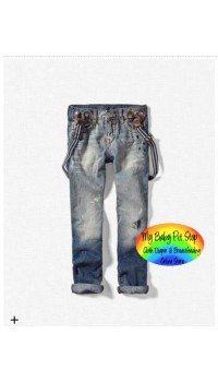 Zara Boys Low Rise Jeans w/Braces (2Y, 5Y)