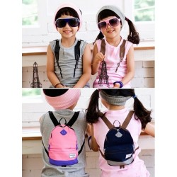 Korean Backpack Print 2pc set (3Y, 4Y) - GREY