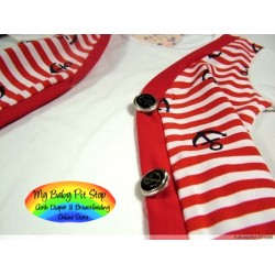 Korean B2W2 Boyz Tee - Red ( 4Y, 5Y, 6Y)