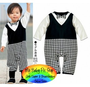 Spunky Kids Smart Boys Checks Romper (1Y, 2Y)