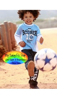 Spunky Kids Boyz Soccer Polo L/S Top + Long Denim (3Y, 4Y)