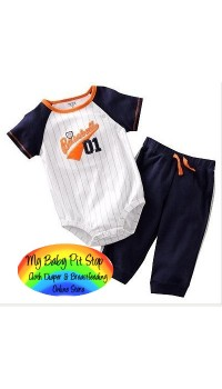 Carter's Boyz Blue Baseball 01 Bodysuit (6M)