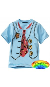 GAP Boys Tee - Blue Vest (5Y, 6Y)