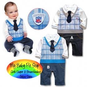 Spunky Kids Smart Boyz 2pc Suit w/Tie (1Y, 2Y, 3Y)