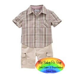 Amissa Boyz 2pc set ~ Checks (3Y, 4Y, 7Y)