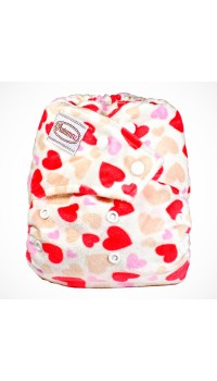 Autumnz - Minky Snap Button - Blooming Love Red