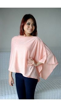 Autumnz Nursing Poncho - Pretty Peach