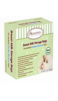 Autumnz - Double Zip Lock Breastmilk Storage Bag (25 bags) *7oz*