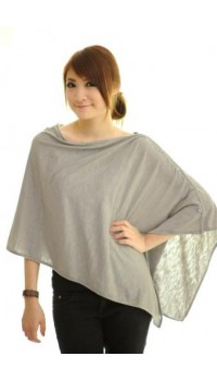 Autumnz Nursing Poncho - Gorgeous Grey