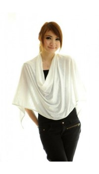Autumnz Nursing Poncho - Winter White