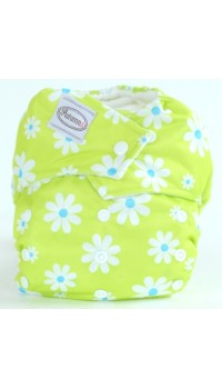 Autumnz - One Size Snap Diaper - Daisy Lime