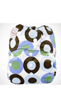 Autumnz - Minky Snap Button - Retro (Blue)