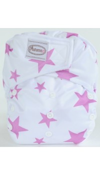 Autumnz - One Size Velcro Diaper - Stary Lilac