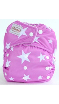 Autumnz - One Size Snap Diaper - Twinkle Lilac