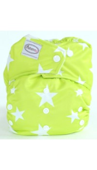 Autumnz - One Size Snap Diaper - Twinkle Lime