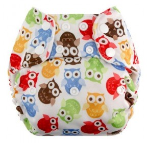 Blueberry One Size Deluxe - Owl (Available in Bamboo)