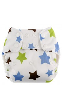 Blueberry One Size Deluxe - Blue Star (Bamboo)